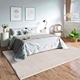 Mia´s Teppiche Olivia Alfombra de salón de Pelo Corto Suave (19 mm), Antideslizante, 100% poliéster, Beige, 120 x 170 cm