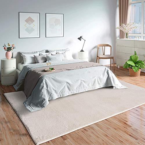 """Mia´s Teppiche """"Olivia"""" Wohnzimmer Teppich, Kurzflor, 160x230 cm, Creme"""