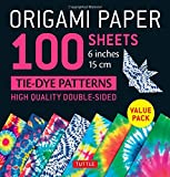 Origami Paper 100 sheets Tie-Dye Patterns 6' (15 cm): Tuttle Origami Paper: High-Quality Double-Sided Origami Sheets Printed with 8 Different Designs (Instructions for 8 Projects Included)