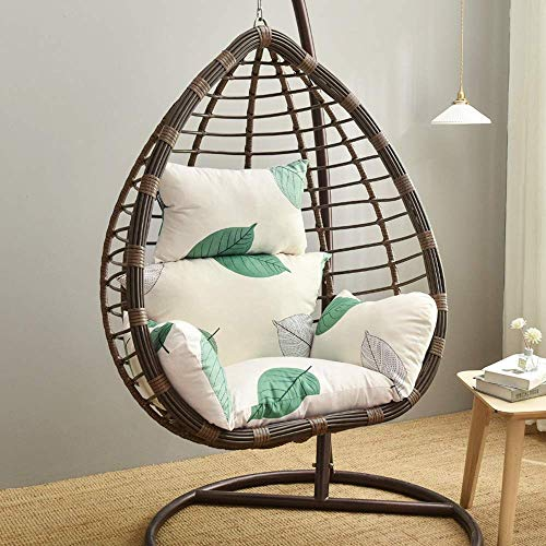ZJZ Cojín para silla de huevo, cojín para colgar en la cesta, cojín para silla de huevo, hamaca con cojín para silla de huevo (sólo cojín, sin silla de huevo/100 x 120 cm) (A)
