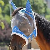 Harrison Howard CareMaster Maschera Anti-Mosche per Cavallo UV Protezione con lana (M; COB)