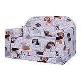 LULANDO Classic Kindersofa Kindercouch Kindersessel Sofa Bettfunktion Kindermöbel zum Schlafen und Spielen, Farbe: Hündchen