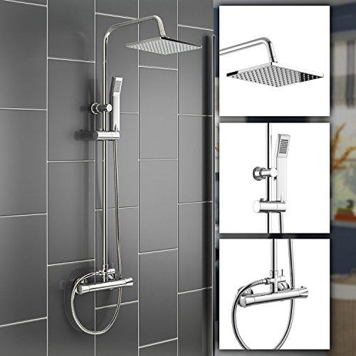 Ducha–Set ducha grifo con mano Held ducha de metal, montaje en pared Ducha Sistema de Juego para baño habitaciones
