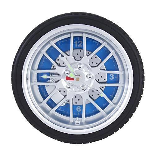 Uhr Batteriebetriebene Kunststoff-Rad-Reifen-Schieber-Shaped Schreibtisch Wecker, Größe: 26 * 7.2cm