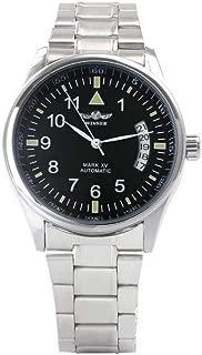 Winner Men Automatic Mechanical Calendar Black Dial Urban Wristwatch