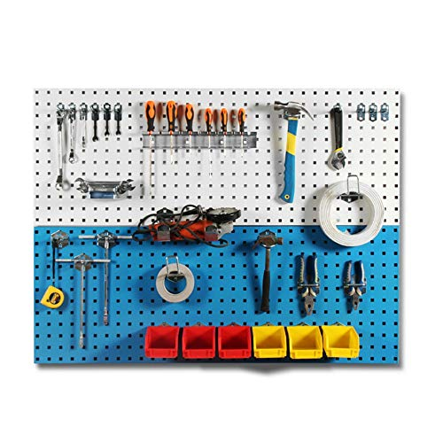 Asffdhley Pegboard Metal Peg Boards Kit Wall Control Pegboard Standard Tool Storage For Shed Garage Workshop for Home, Shed, Workshop or Garage (Color : A, Size : 90x45cm)