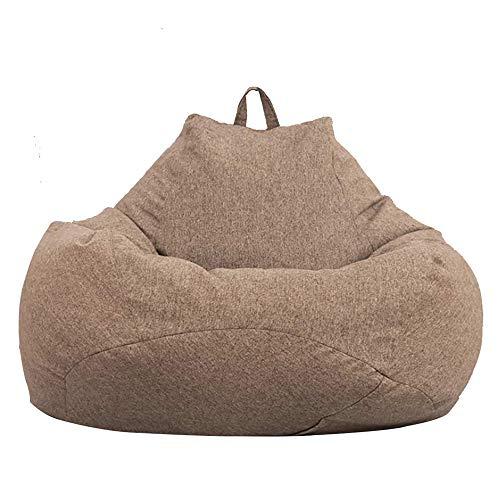 Ghopy - Fodera per pouf gigante senza imbottitura, per adulti e bambini, XXL (120 x 100 cm), in tessuto, pouf da soggiorno, per divano grande, sedia a sdraio, sedia da salotto per interni ed esterni