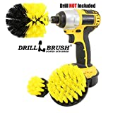 Drillbrush 3 Piece Drill Brush Cleaning Tool Attachment Kit for Scrubbing/Cleaning Tile, Grout,...
