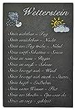 Creativgravur Schiefertafel Wetterstation Schiefer wenn Stein nass - Regen Wetterstein Schiefer Schild, Schiefer veredelt:Wetterstein bedruckt