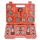 Orion Motor Tech 24 Piezas Reposicionador de Pistones de Freno para Reparación de Frenos Herramientas para Reposicionar el Pistón de Freno al Camibar Discos Kit de Herramientas para Automóviles