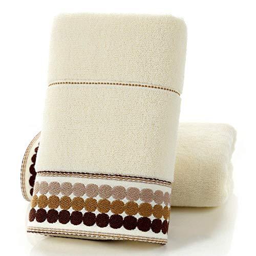 AOIWE NDMWKSA 2 UNIDS Toalla de algodón Suave para Adultos Mujeres Hombres Niños para Ducha de hogar Cuarto de baño Toallas de Mano Turbante para secar Toalla de Secado rápido (Color : B)