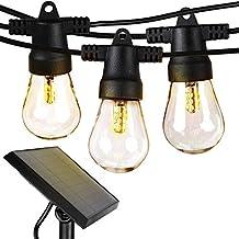 Brightech Ambience Pro - Waterproof LED Outdoor Solar String Lights - 1W Vintage Edison Bulbs - 48 Ft Heavy Duty Patio Lig...