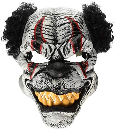 California Costumes Psycho Killer Clown Ani-Motion Halloween Maske schwarz-Weiss-rot Einheitsgröße