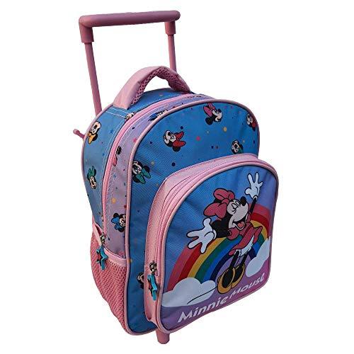 Zaino Asilo Trolley Minnie Mouse Disney 2 Ruote Manico ALLUNGABILE CM.30 - MIN0617