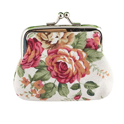 Bokeley Clearance ! Cute Floral Buckle Coin Purses Vintage Pouch Kiss-Lock Change Purse Wallets...