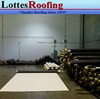 10' x 20' 45 mil TPO White RV Rubber Roofing Kit, Membrane, Adhesive, Flashing