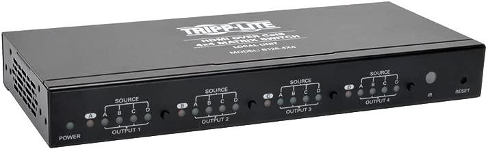 Tripp Lite 4x4 HDMI Over Cat5 / Cat6 Matrix Splitter Switch , Transmitter for Video and Audio, 1920x1200 1080p at 60Hz(B126-4X4)