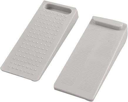Km Set Of 2 Stackable Non-Slip Rubber Wedge Door Stoppers - To Stop Or Jam Doors (Colors May Vary)