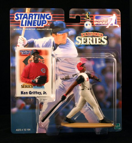 Starting Lineup Ken Griffey JR. / Cincinnati Reds 2000 MLB Extended Series Action Figure & Exclusive Collector Trading Card