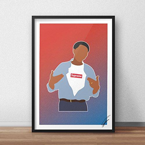 Von Obama Supreme inspirierte Illustration.