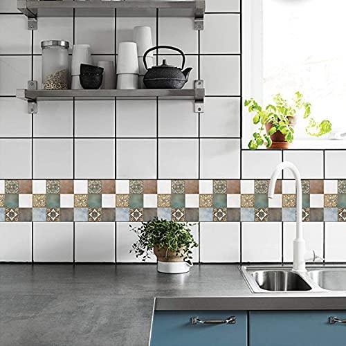 18 PCS / 54 PCS Pegatinas de azulejos de pared Peel and Stick Backsplash Pasquis autoadhesivo Decoración de vinilo Decoración del hogar BRICOLAJE Sala de estar decoración de baldosas pintura palo en a