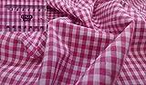 Fabrics-City PINK PATCHWORK DRUCK BAUMWOLLSTOFF VICHYKARO