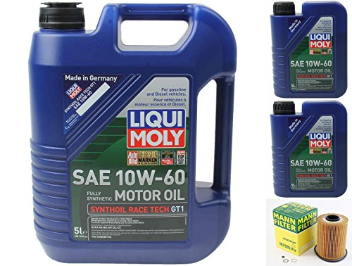 Mann Oil Change Kit w/Filter HU926/4x + LIQUIMOLY 10W-60 Compatible with BMW M3 E36/E46 3.0L OR 3.2L 94-06