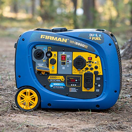 Firman 3300/3000w Recoil Start Gas Or Propane Dual Fuel Portable Generator Parallel Ready Carb and Cetl Certified -  WH03041