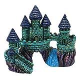 Decoración de castillo de resina para acuario, escondites de castillo, cueva de piedra, escondite de casa, pecera, acuario, accesorios para tortugas de camarones, decoraciones de pecera