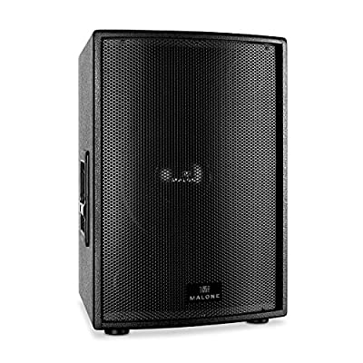 """MALONE PW-15P-M Passive DJ (PA 15"""" Subwoofer 1000W RMS Metal Grill Fitting Flange for 35mm Stand) - Black from Malone"""