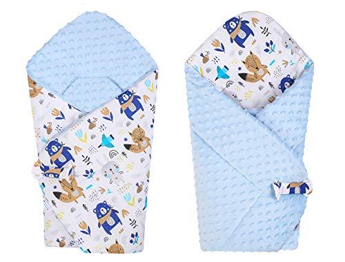Azul Unicornio BlueberryShop Minky manta de forro polar para envolver al beb/é en el coche| Saco de dormir para beb/és reci/én nacidos 78 x 78 cm Para beb/és de 0-3 meses