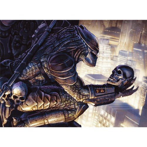 Monty Arts Predator Concrete Jungle Poster by Silk Printing # Size About (82cm x 60cm, 33inch x 24inch) # Unique Gift # 2D94E8