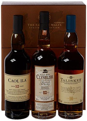 The Classic Malts Collection Pack Coastal Single Malt Whisky (3 x 0.2 l) mit Talisker 10, Caol Ila 12, Clynelish 14