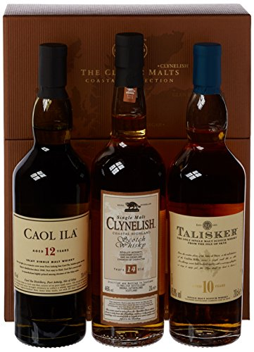 The Classic Malts Collection Pack Coastal Single Malt Whisky (3 x 0.2 l) mit Talisker 10, Caol Ila 12, Clynelish 14