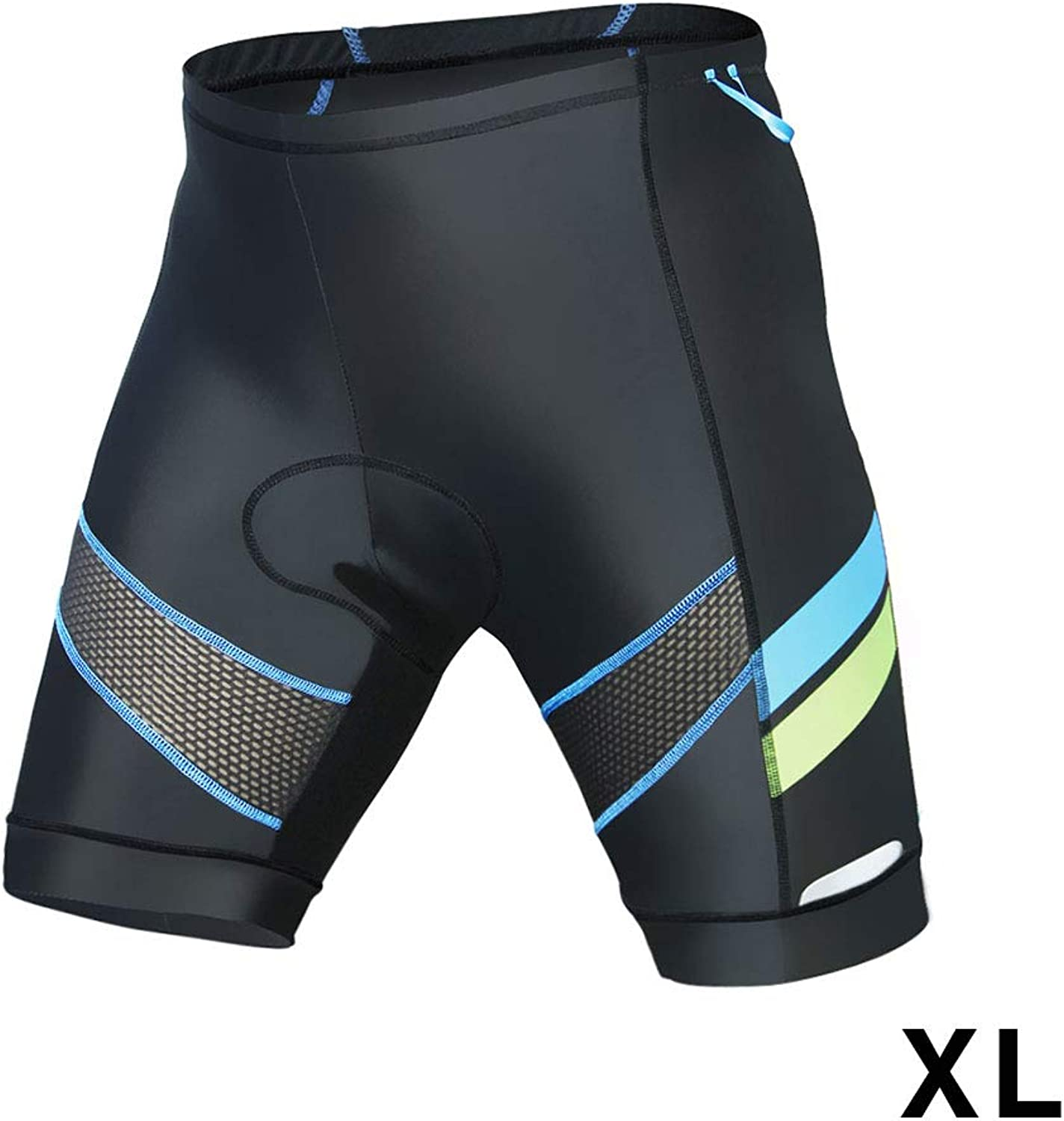 Men's Cycling Shorts  Breathable Mens blueee Strips Bike Shorts Lightweight Biker Pants for Outdoor Biking Riding