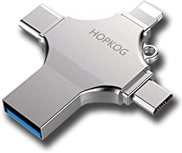 Hopkog Mini iOS Ixpand Flash Drive iPhone iPad 3.0 Android Micro USB C Flash Drives 64 GB 4 in 1 Dual USB-C Thumb Drive OTG Memory Stick Compatible A Wide Variety Devices