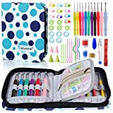 BONTIME Crochet Hooks Set - 11 Pieces Ergonomic Crochet Hooks with...