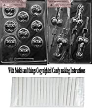 RITZY TITZY Adult Chocolate Candy Mold & MEDIUM PECKER POP Adult Chocolate Candy Mold with Copyrighted Molding Instructions +25 Sticks