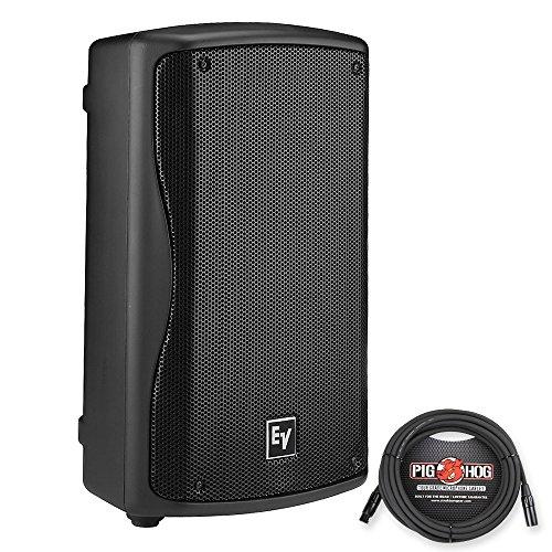 Electro-Voice ZXA1-90 Powered PA Speaker Black w/Pig Hog PHM25 Xlr to XLR 25ft