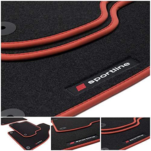 tuning-art BSL500 Sportline Fußmatten Set mit Ziernaht