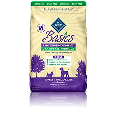 BLUE Basics Limited Ingredient Diet Adult Grain Free Turkey & Potato Dry Dog Food 24-lb