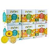 Zutec - Cápsulas de Zumo Surtido (Naranja, Piña y Melocotón) - Compatibles con cafeteras Dolce Gusto* - 6 Estuches de 12 cápsulas - 72 cápsulas