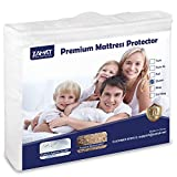 ZAMAT Premium 100% Waterproof Mattress Protector, Breathable & Noiseless Mattress Pad Cover, Fitted 14'-18' Deep, Vinyl Free, Hypoallergenic | Dust Proof | Smooth Soft Cotton Terry Covers(Queen)