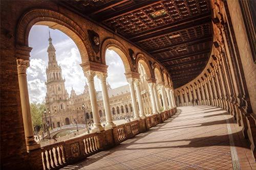 Rompecabezas De 1000 Piezas, Sevilla, Plaza De España, Para Niños Y Adultos, Juego Divertido De Ensamblaje Personalizado De Madera