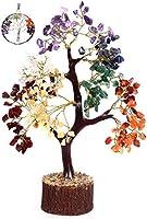 KACHVI-Kristallbaum | Heilung vom 7-Chakra-Kristallbaum für Reiki-Energie | Heilung durch Kristalle | Kristallbaum für Wohnzimmerdekoration | Kristallgeschenke | Baum des Lebens Geschenk | 300 Perlen