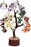 KACHVI Árbol de Cristal de Siete Chakras Árbol de los bonsais Figuras decoración de la Oficina en casa Ornamnets para la Sala de Estar Regalos de Cristal del árbol de la Vida