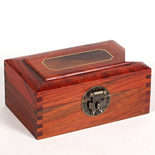 La chuleta de la caoba estilo chino del mediana y pequeña caja de almacenamiento caja de madera cuadro decorativo-B
