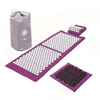 tapis XL (130 x 50 cm) + coussin (L 33 x l 28 cm x h 8 cm) + tapis pour les pieds SOFT (35 x 35 cm)+ sac de transport Le mode d'action du tapis d'acupression Vital est basé sur l'acupression, un principe de la médecine traditionnelle chinoise (MTC)...