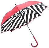 フルトン L723 023884 Bloomsbury-2 Diagonal Stripe 「Lulu Guinness」ルルギネス コラボモデル ワンタッチ ジャンプ傘 自動開き 長傘 2重構造 ブルームズバリー アンブレラ [並行輸入品]