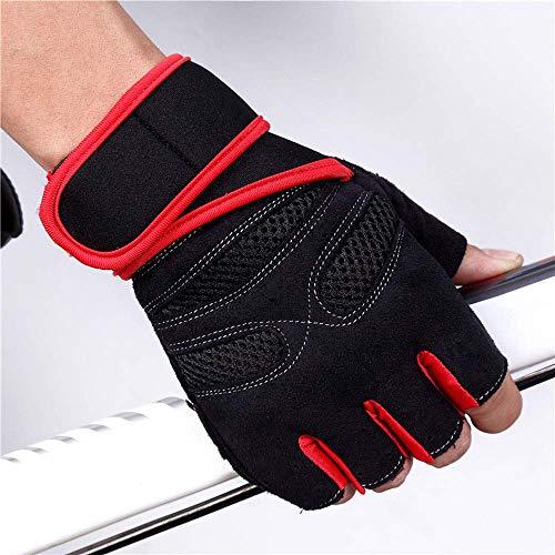 Guantes de ciclismo, guantes de medio dedo resistentes al desgaste Hombres Guantes...